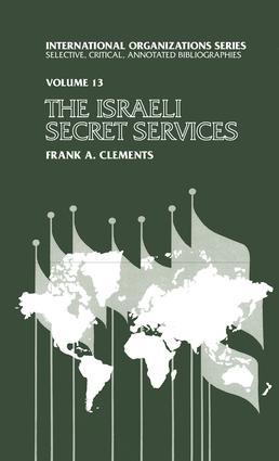 Israeli Secret Services: 1st Edition (Paperback) book cover