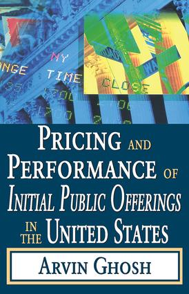 Pricing and Performance of Initial Public Offerings in the United States: 1st Edition (Paperback) book cover