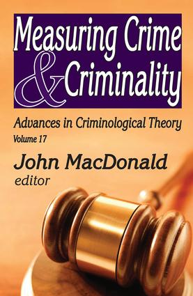Measuring Crime and Criminality book cover