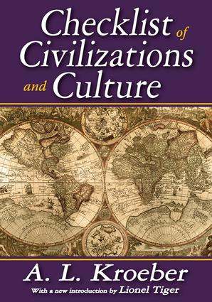 Checklist of Civilizations and Culture