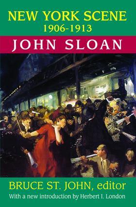 New York Scene: 1906-1913 John Sloan, 1st Edition (Paperback) book cover