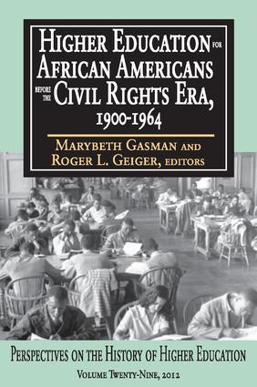 Higher Education for African Americans Before the Civil Rights Era, 1900-1964 book cover