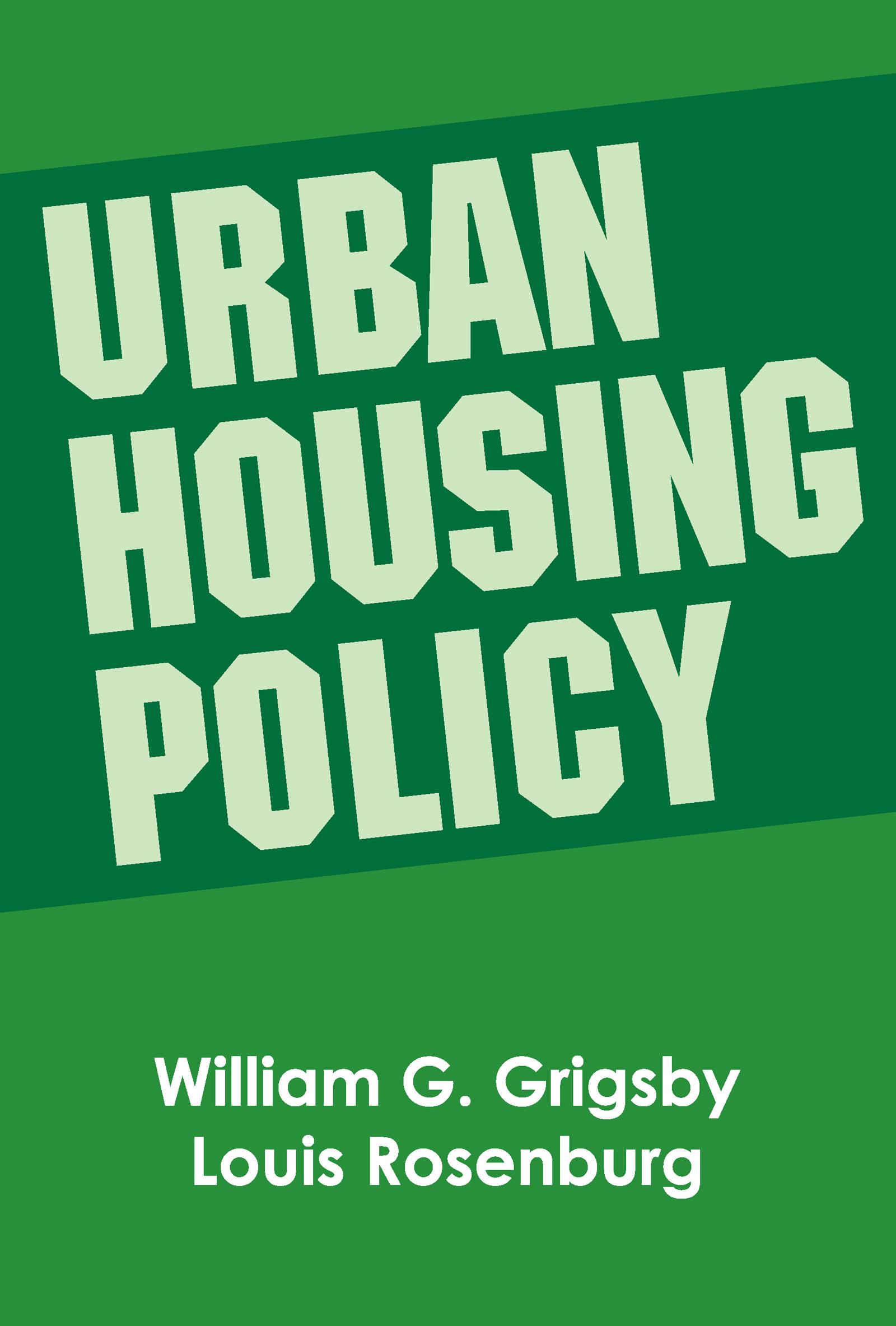 Urban Housing Policy