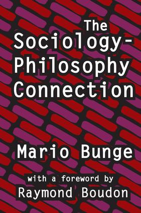 The Sociology-Philosophy Connection: 1st Edition (Paperback) book cover