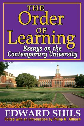 The Order of Learning: Essays on the Contemporary University, 1st Edition (Paperback) book cover