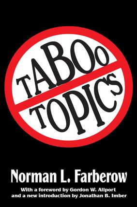 Taboo Topics: 1st Edition (Paperback) book cover