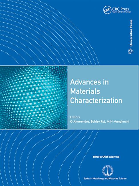 Advances in Materials Characterization: 1st Edition (Hardback) book cover