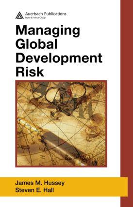 Managing Global Development Risk: 1st Edition (Hardback) book cover