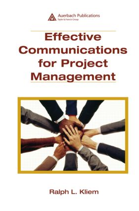 Effective Communications for Project Management: 1st Edition (Hardback) book cover