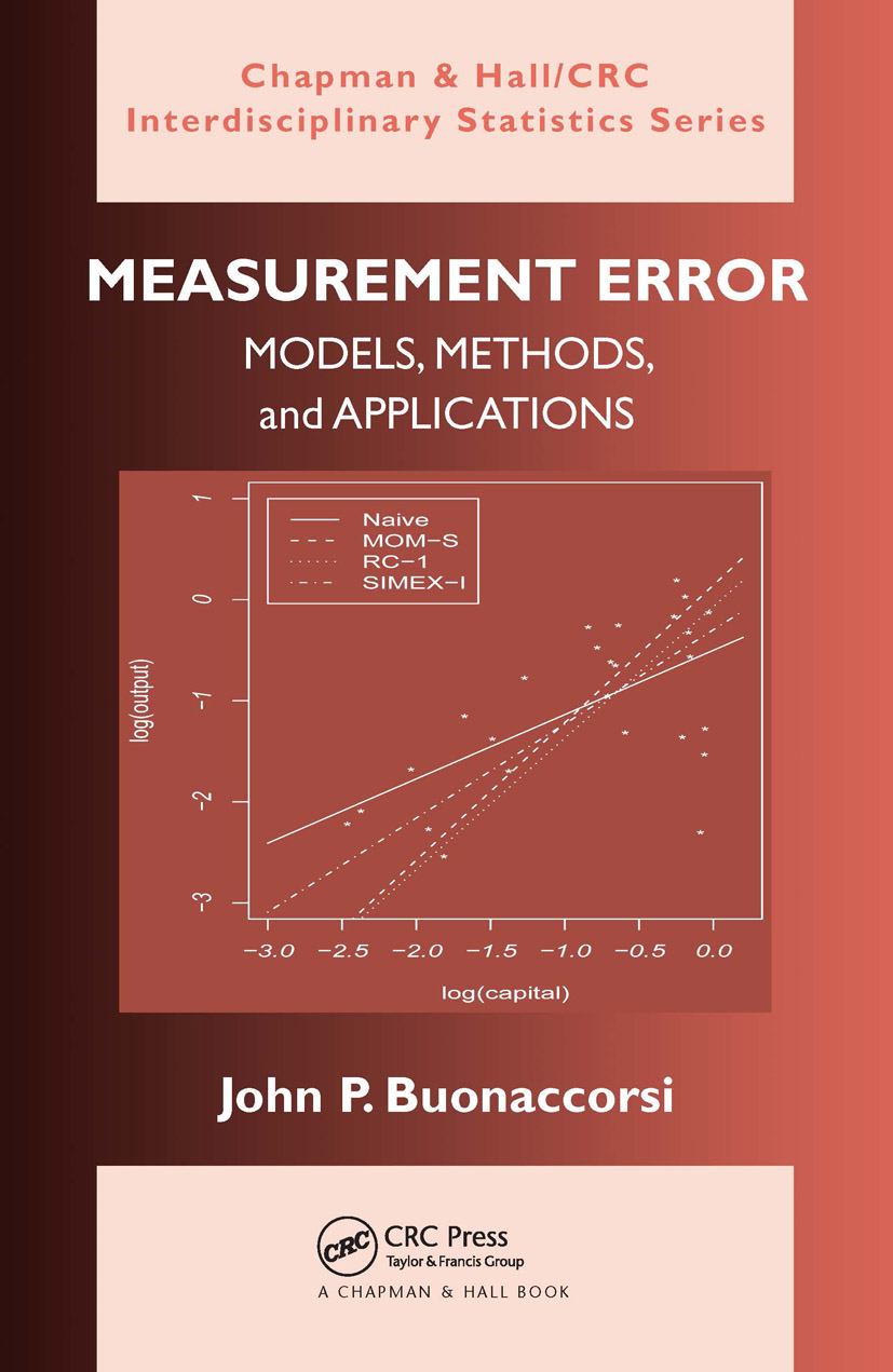 Measurement Error: Models, Methods, and Applications (Hardback) book cover
