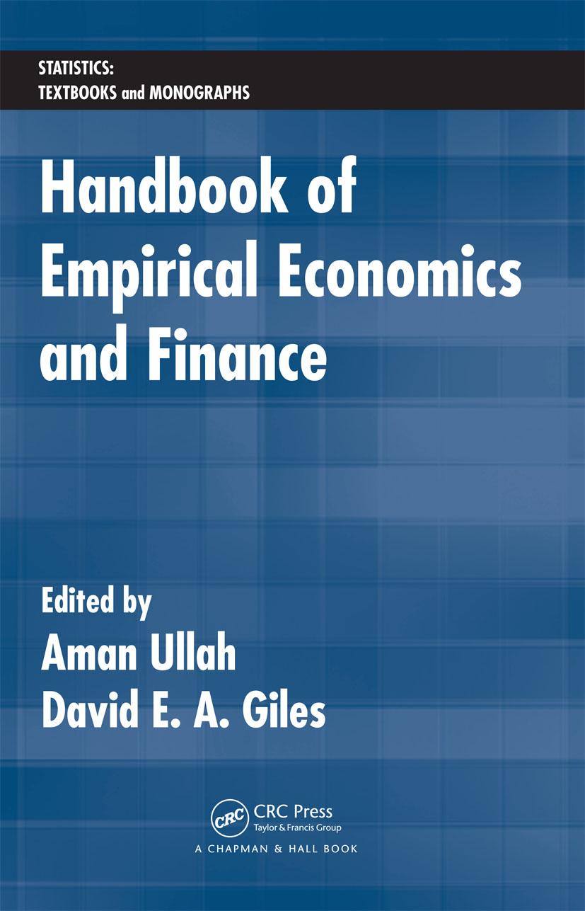 Handbook of Empirical Economics and Finance (Hardback) book cover