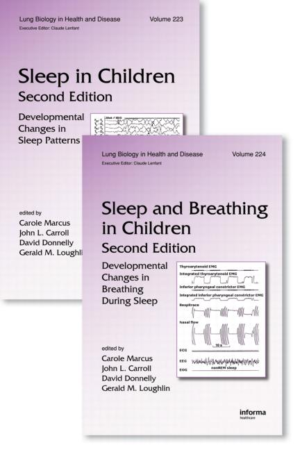 Sleep in Children and Sleep and Breathing in Children, Second Edition: Two Volume Set, 2nd Edition (Hardback) book cover