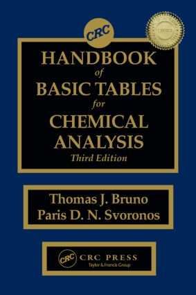 CRC Handbook of Basic Tables for Chemical Analysis: 3rd Edition (Hardback) book cover