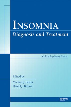 Insomnia: Diagnosis and Treatment book cover