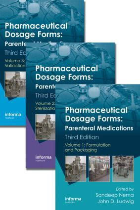 Pharmaceutical Dosage Forms: Parenteral Medications, Third Edition. 3 Volume Set, 3rd Edition (Hardback) book cover