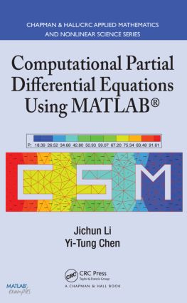Computational Partial Differential Equations Using MATLAB book cover