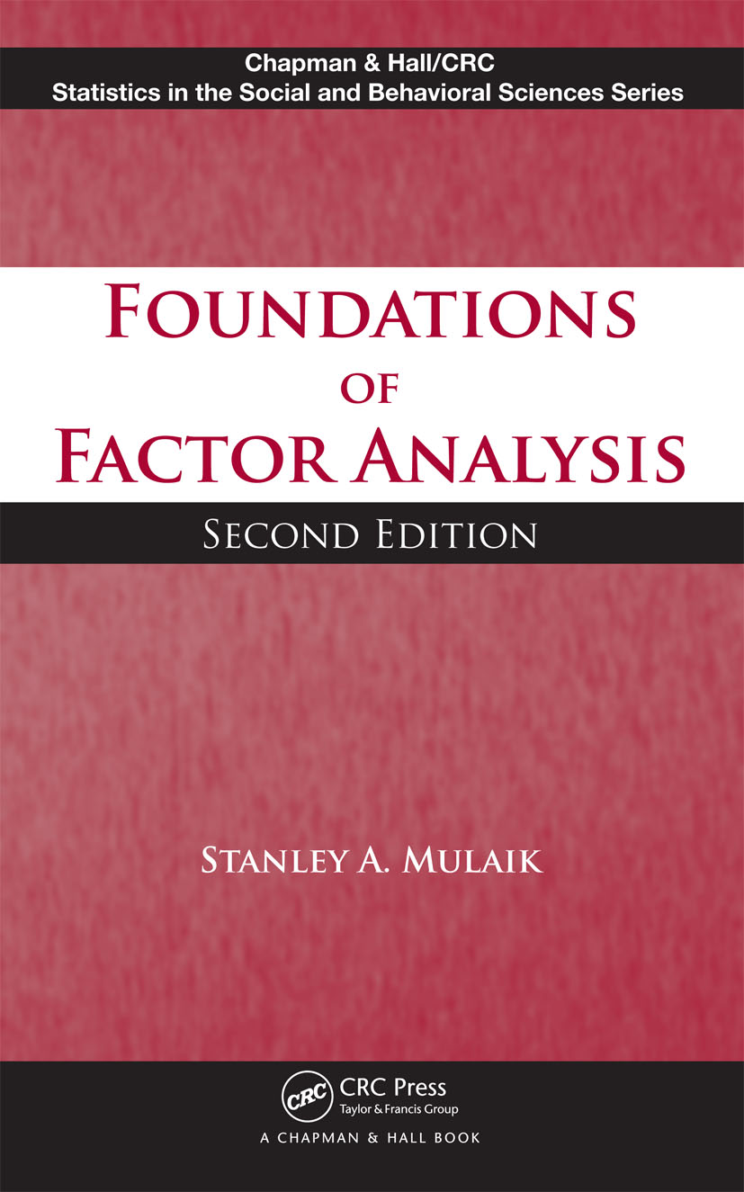 Foundations of Factor Analysis, Second Edition: 2nd Edition (Hardback) book cover
