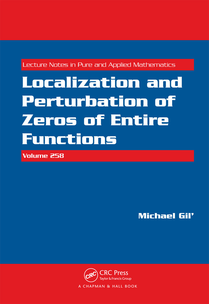 Localization and Perturbation of Zeros of Entire Functions (Hardback) book cover