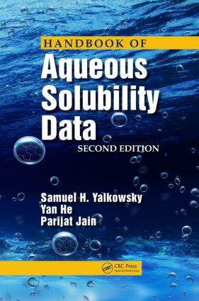 Handbook of Aqueous Solubility Data: 2nd Edition (Hardback) book cover