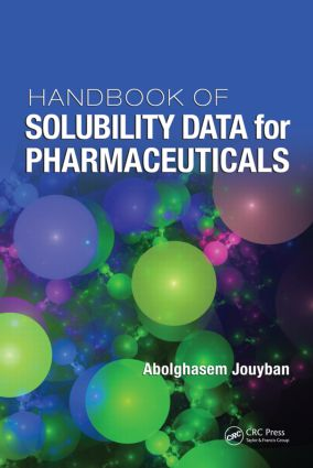 Handbook of Solubility Data for Pharmaceuticals: 1st Edition (Hardback) book cover