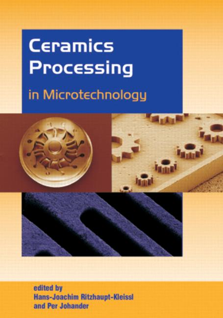 Ceramics Processing in Microtechnology: 1st Edition (Hardback) book cover