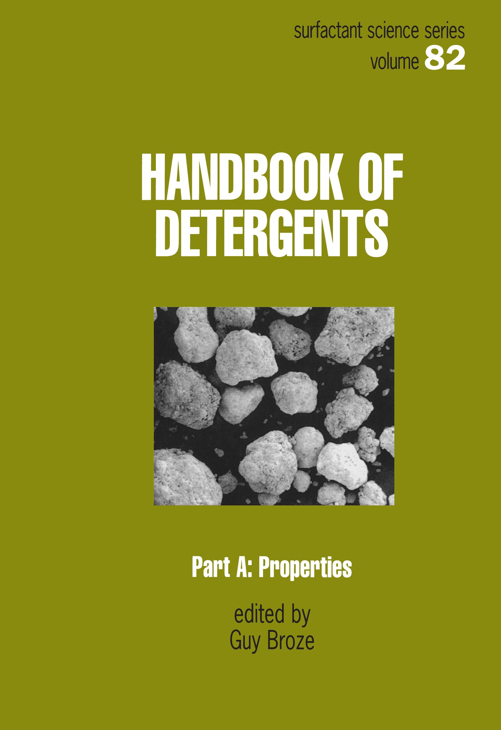 Handbook of Detergents, Part A