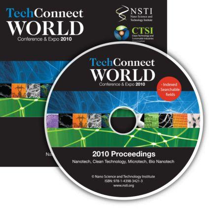 TechConnect World 2010 Proceedings: Nanotech, Clean Technology, Microtech, Bio Nanotech Proceedings DVD, 1st Edition (DVD) book cover