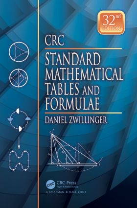 CRC Standard Mathematical Tables and Formulae, 32nd Edition: 32nd Edition (Hardback) book cover