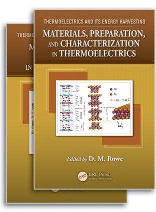 Thermoelectrics and its Energy Harvesting, 2-Volume Set: 1st Edition (Hardback) book cover
