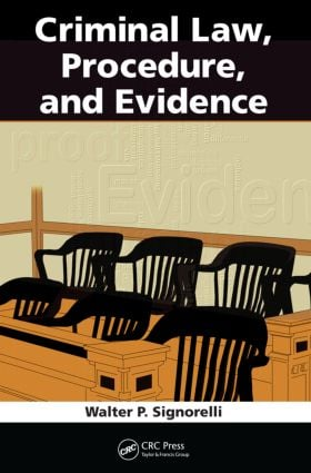 Criminal Law, Procedure, and Evidence (Paperback) book cover