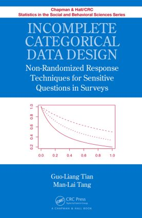 Incomplete Categorical Data Design: Non-Randomized Response Techniques for Sensitive Questions in Surveys (Hardback) book cover