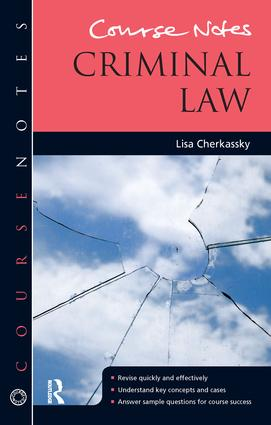 Course Notes: Criminal Law book cover