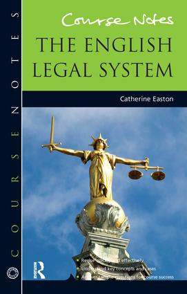 Course Notes: the English Legal System book cover