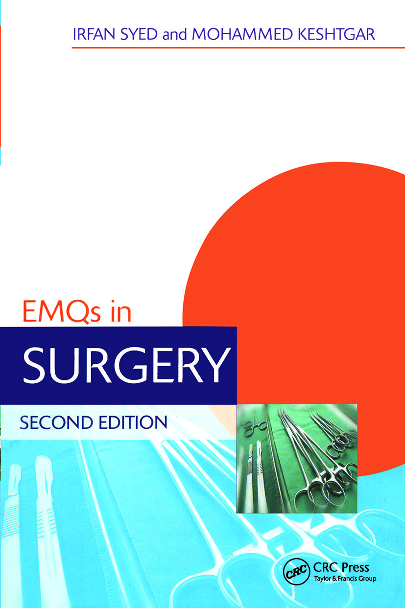 EMQs in Surgery 2E: 2nd Edition (Paperback) book cover