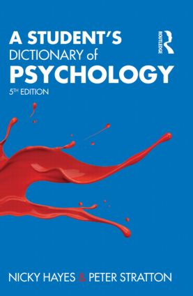 A Student's Dictionary of Psychology: 5th Edition (Paperback) book cover