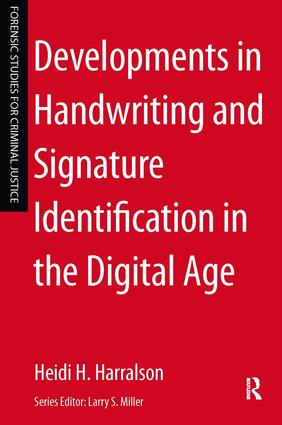 Developments in Handwriting and Signature Identification in the Digital Age book cover