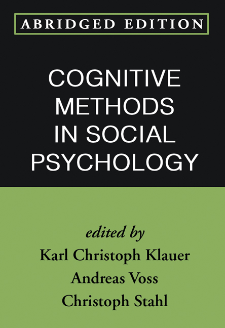 Cognitive Methods in Social Psychology, Abridged Edition (Paperback) book cover