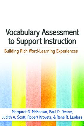 Vocabulary Assessment to Support Instruction: Building Rich Word-Learning Experiences book cover