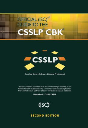 Official (ISC)2 Guide to the CSSLP CBK: 2nd Edition (Hardback) book cover