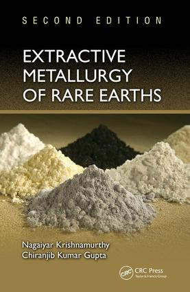 Extractive Metallurgy of Rare Earths: 2nd Edition (Hardback) book cover
