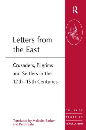 Letters from the East: Crusaders, Pilgrims and Settlers in the 12th–13th Centuries, 1st Edition (Paperback) book cover