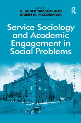 Service Sociology and Academic Engagement in Social Problems (Hardback) book cover