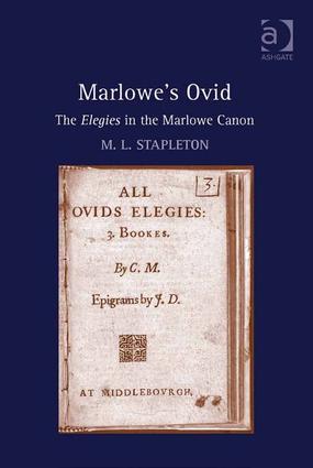 Marlowe's Ovid: The Elegies in the Marlowe Canon (e-Book) book cover