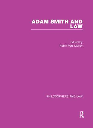 Adam Smith and Law book cover