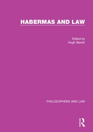Habermas and Law book cover