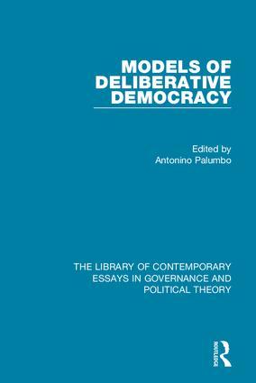 Models of Deliberative Democracy book cover