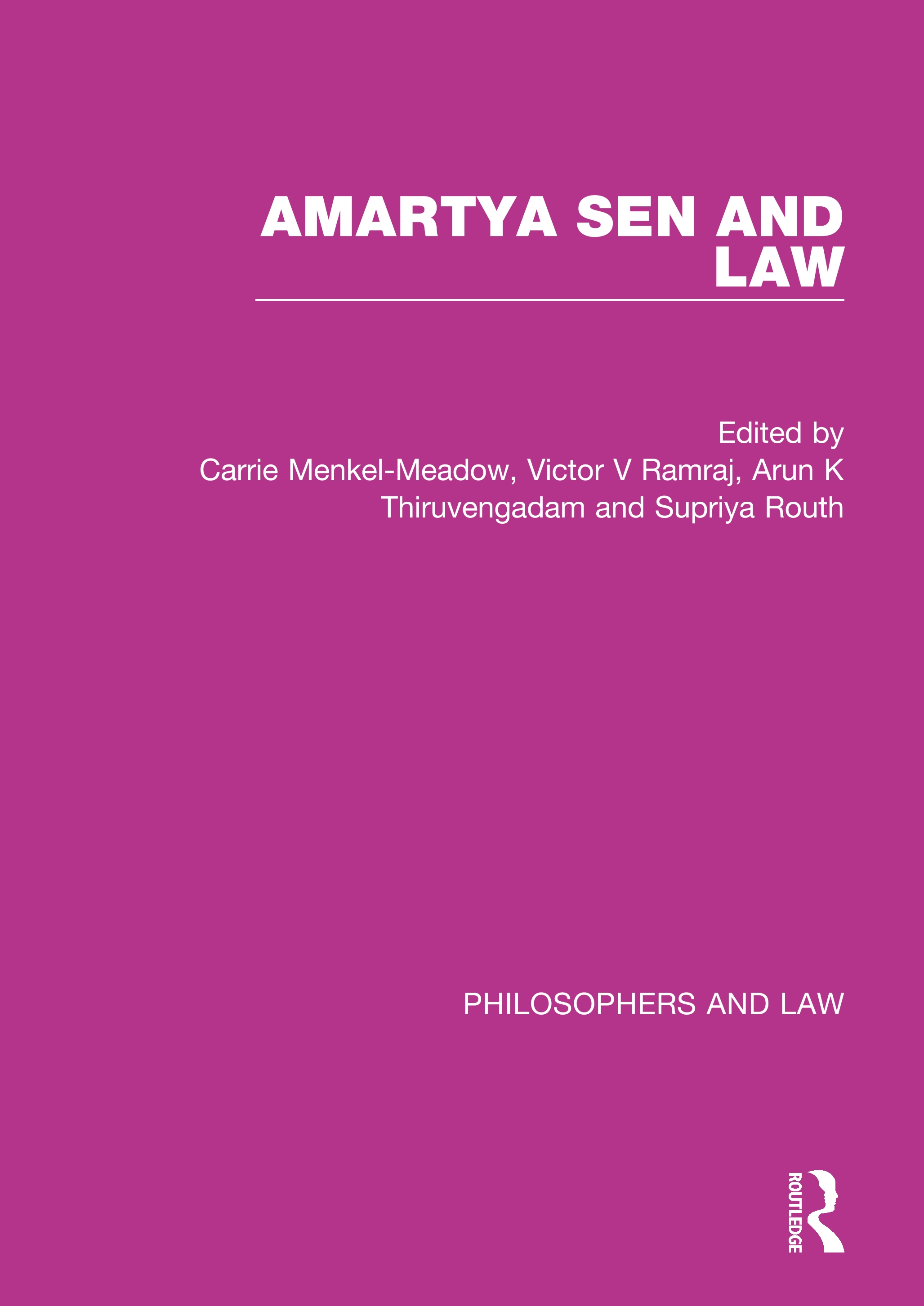 Amartya Sen and Law book cover