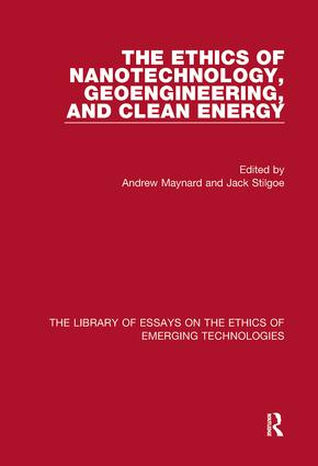 The Ethics of Nanotechnology, Geoengineering, and Clean Energy book cover