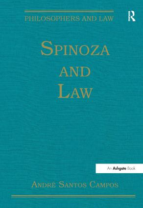 Spinoza and Law book cover