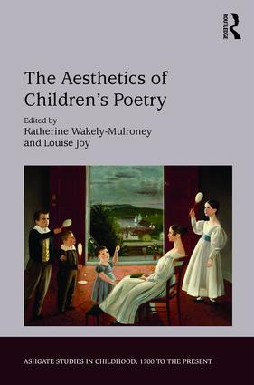 The Aesthetics of Children's Poetry: A Study of Children's Verse in English, 1st Edition (Hardback) book cover